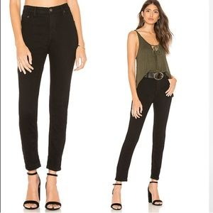 The Free People High Rise Long and Lean Jean 26r